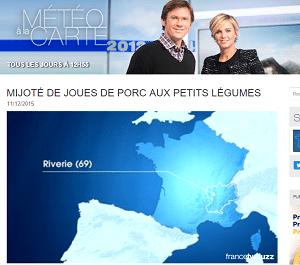 """Emission france 3 """"Méteo à la carte"""""""